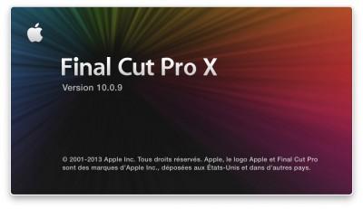 Final Cut Pro X 10.0.9 formation